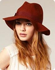 Chapeau en laine à bord mou