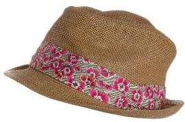 Chapeau paille et coton fleuri Marc O'Polo