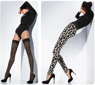 Bas et legging imprimés léopard