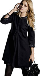 Manteau noir manches trois quart