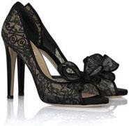 Chaussures dentelle noire Valentino