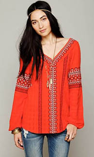 Blouse rouge Free People
