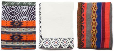 Foulards ethniques Zara