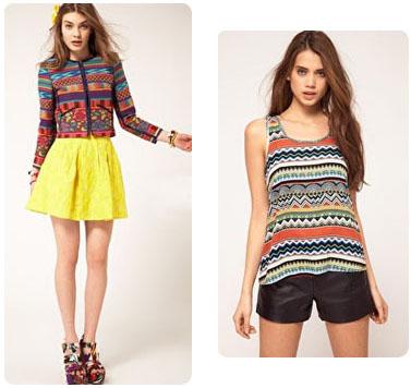 Mode ethnique, printemps 2012