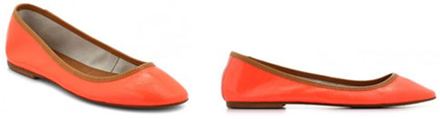 Ballerines orange fluo Minelli