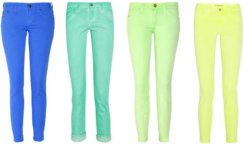 Jeans fluo