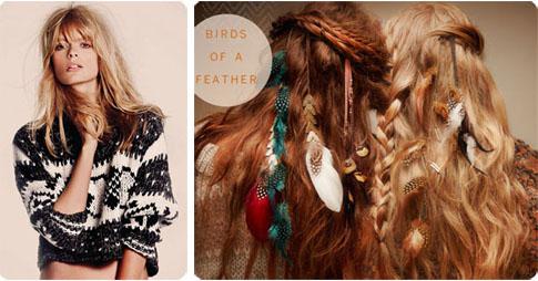 Pull court et accessoires cheveux