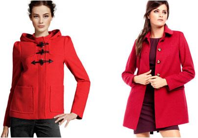 Manteaux rouges H&M rentrée 2012