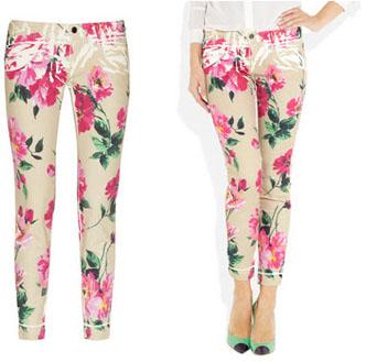 Pantalon à fleurs Dolce & Gabbana