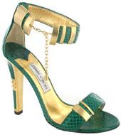 Sandale or et vert