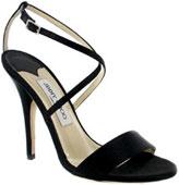 Sandale satin noir