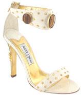 Sandale blanche et pierreries