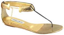 sandale dorée plate