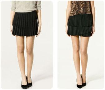 Jupes plissées Zara