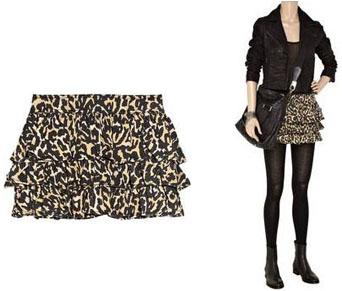 Mini-jupe léopard Adam
