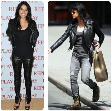 Look rock jolis exemples piquer aux stars le blog beaut femme - Style rock chic femme ...