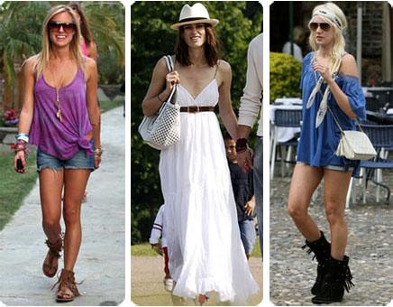 Look boh me les plus jolis exemples piqu s chez les stars le blog beaut f - Style boheme chic femme ...