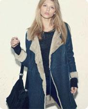 Manteau peau lainée Ba&sh, AH 2010