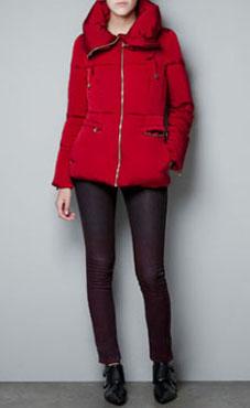 Doudoune rouge Zara