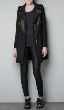 Manteau bi-matière Zara