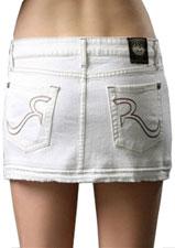 Jupe en jean blanche Rock & Republic