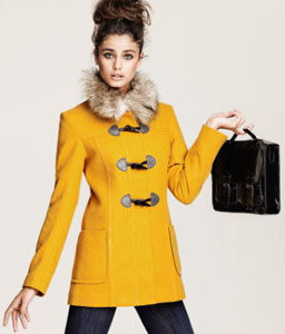 Manteau jaune moutarde H&M