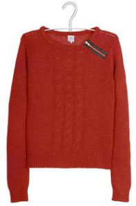Pull rouge brique Karl Marc John