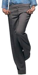 Pantalon gris et large chez La Redoute