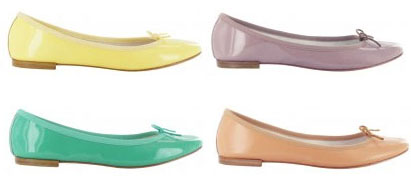 Ballerines pastel Repetto, printemps 2012