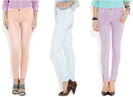 Jeans slim pastel