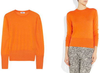 Pull orange flashy Acne