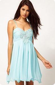 Robe de soirée turquoise Little Mistress