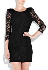 Petite robe noire en dentelle Tibi