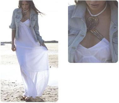 Robe longue de plage en coton