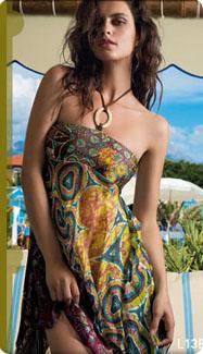 Robe foulard multicolore Lise Charmel
