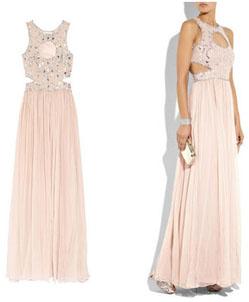 Robe longue rose Rachel Gilbert