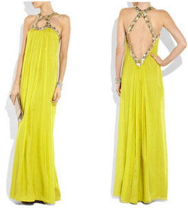 Longue robe jaune Temperley London
