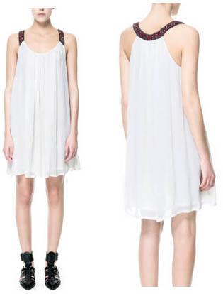 Robe blanche TRF Zara