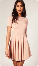 Robe rose poudre chic