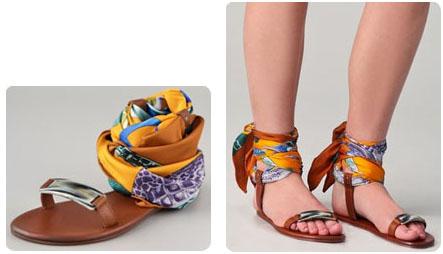 Sandales foulards Avec Modération