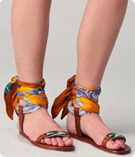 Sandales plates printemps-été 2012