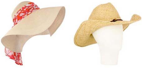 Capeline Emilio Pucci, chapeau Melissa Obadash