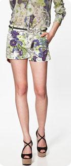 Short fleuri Zara