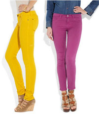 Jeans slim colorés