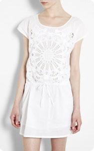 Robe coton blanc Vanessa Bruno Athé