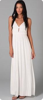 Robe longue blanche Rachel Pally
