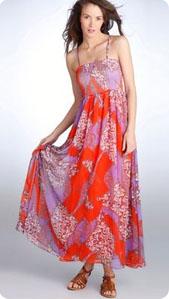 Robe longue colorée