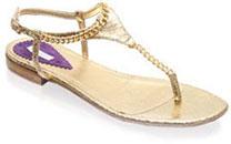 Sandales dorées Pinko