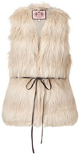 Gilet en fausse fourrure Juicy Couture P/E 2012