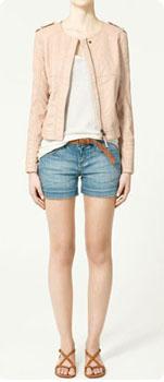 Blouson en similicuir Zara